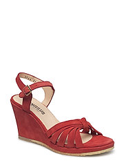 Sandals - wedge - open toe - - 2168 RED