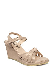 Sandals - wedge - open toe - - 2181 COPPER GLITTER