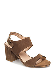 Sandals - block heels - open toe - 1153 OLIVE
