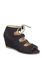 5510-101 Wedge sandal with lace - 1200 BLACK
