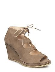 5510-201 Wedge sandal with laces - 1198 LIGHT COGNAC