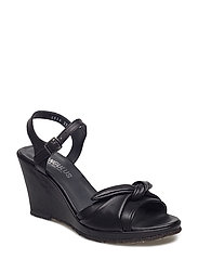 Sandals  - wedge -open toe -closed counter - 1604 BLACK