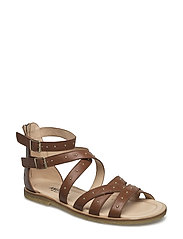 Sandals - flat - open toe - clo - 1431 COGNAC