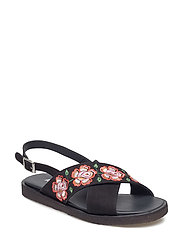 Sandals - flat - 1200 BLACK