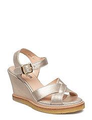 Sandals - wedge - 2424 SILVER GLITTER