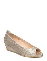 Sandals - flat - open toe - clo - 2424 SILVER GLITTER