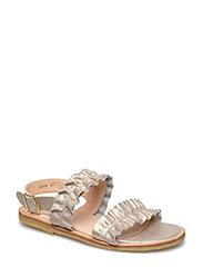 Sandals - flat - open toe - op - 2424 SILVER GLITTER
