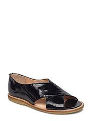 Sandals - flat - open toe - clo - 1310 BLACK