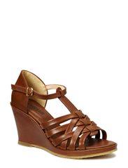 Sandal on wedge heel - 1968 Cognac