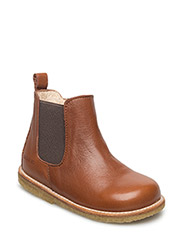Booties - flat - with zipper - 1431/003 COGNAC/MEDIUM BROWN