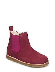 Booties - flat - with zipper - 2166/033 MAGENTA/ PINK
