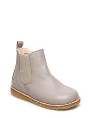 Booties - flat - with zipper - 2416/010 GRAY PURPLE/BEIGE