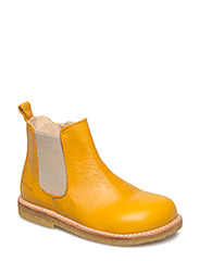 Booties - flat - with zipper - 1574/010 YELLOW/BEIGE
