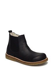 Boots - flat - zipper - 1652/001 BLACK/BLACK