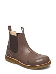 Booties - flat - with elastic - 2332/003 NOUGAT/BROWN