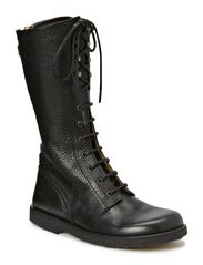 Long boot with laces. - 2504 Black