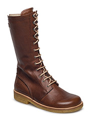 Long boot with laces. - 2509 REDBROWN
