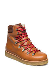 Boots - flat - with laces - 1803/1166 COGNAC/COGNAC