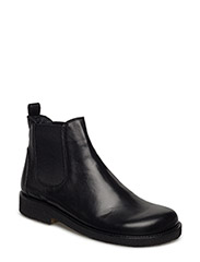 Booties-flat - with elastic - 1604/019 BLACK/BLACK