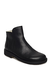 Booties - flat - with zipper - 1604 BLACK