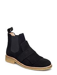 Booties - flat - with elastic - 1163/001 BLACK/ BLACK