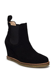 Booties - Wedge - with elastic - 1163/001 BLACK/ BLACK