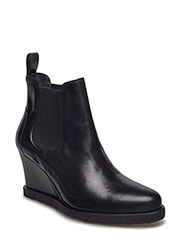Booties - Wedge - with elastic - 2619/019 BLACK SHINE/BLACK