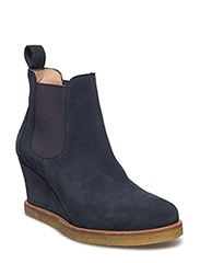 Booties - Wedge - with elastic - 1147/018 NAVY/DARK GREY