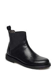 Booties - flat - with elastic - 2619/019 BLACK SHINE/BLACK