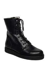 Boots - flat - with laces - 2619 BLACK SHINE