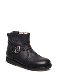 Booties - flat - with zipper - 2500 BLACK