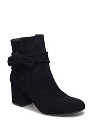 Bootie - block heel - with zippe - 1163 BLACK