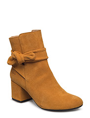 Bootie - block heel - with zippe - 2161 CURRY