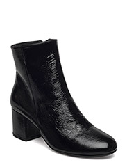Bootie - block heel - with zippe - 1310 BLACK