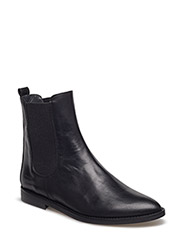 Booties - flat - with zipper - 2619/019 BLACK SHINE/BLACK