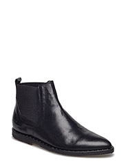 Booties - flat - with elastic - 2619/019 BLACK SHINE/BLACK
