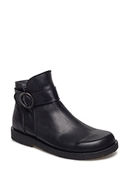 Booties - flat - with zipper - 1604 BLACK