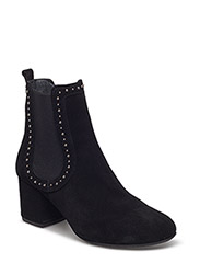 Booties - Block heel - with elas - 1163/001 BLACK/ BLACK