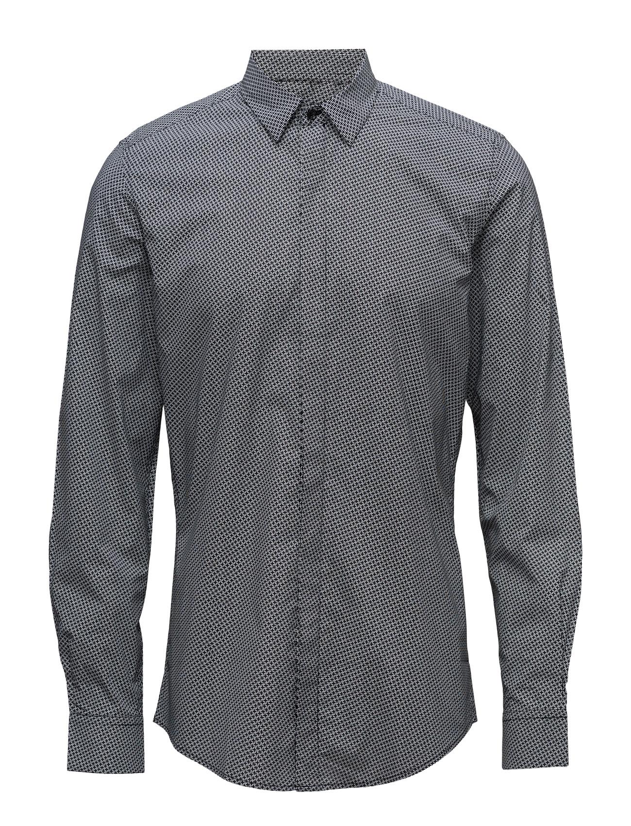 Shirt Long Sleeves With Printed Fabric Antony Morato Trøjer til Mænd i Sort