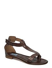 T-string flat sandal - PRINTED SNAKE