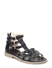 ECOLOGICAL OPEN RETRO SANDAL WITH SUPER SOFT SOLE - BLACK 05