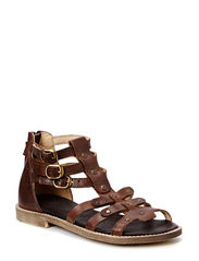 ECOLOGICAL OPEN RETRO SANDAL WITH SUPER SOFT SOLE - DARK BROWN