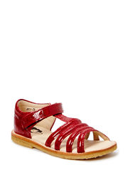 ECOLOGICAL OPEN SANDAL, NORMAL WIDTH - CROCO RED