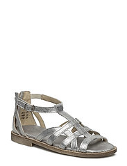 ECOLOGICAL HAND MADE Open Sandal - 03-OPHIDEA SILVER