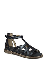 ECOLOGICAL HAND MADE Open Sandal - 05-BLACK FANTASY
