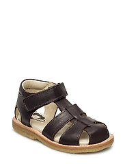 ECOLOGICAL HAND MADE Closed Sandal, Medium fit - 16-DARK BROWN
