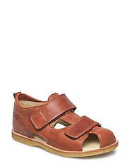ECOLOGICAL HAND MADE Closed Sandal - 05-COGNAC