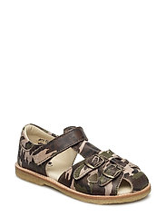 ECOLOGICAL CLOSED RETRO SANDAL, MEDIUM/WIDE FIT - 63-ARMY