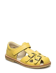ECOLOGICAL CLOSED RETRO SANDAL, MEDIUM/WIDE FIT - 64-YELLOW