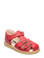 ECOLOGICAL CLOSED RETRO SANDAL, MEDIUM/WIDE FIT - RED